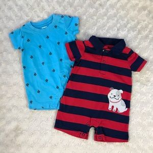Carter's Baby Boy Summer Rompers Sailboats Dog